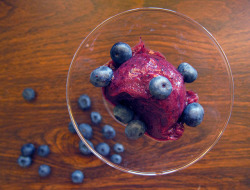 blueberry riesling rosemary sorbet by you can count on me on Flickr.