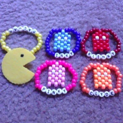 #pacman #ghost #perler #kandi trades for #edc #edc2013 see you there!