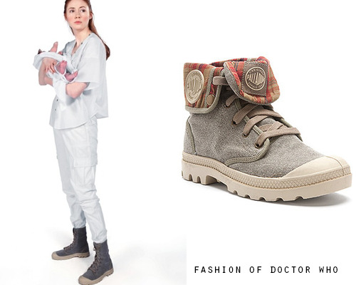 Amy Pond - A Good Man Goes to War Palladium Women's Baggy Canvas Boot ($70)