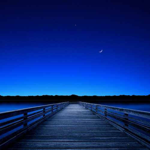 Moon and Venus in the Blue by Carlos Gotay Martínez on Flickr.