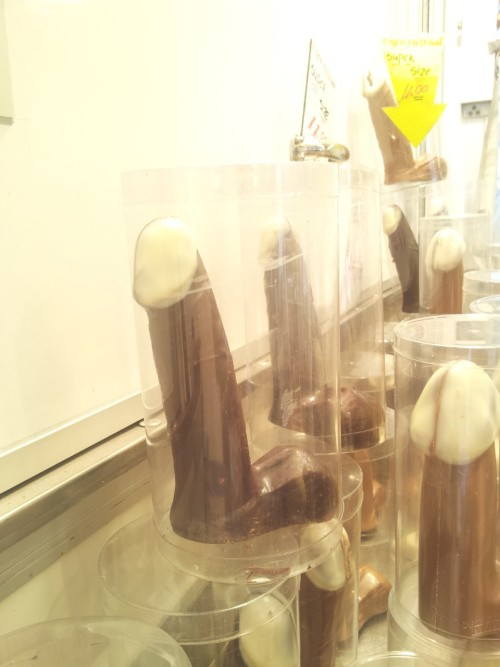Chocolate dicks , hahaha u can buy them at our Dutch market (albert kuyp)