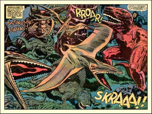 prehistosaurio:  Devil Dinosaur 3 by Jack Kirby & Mike Royer