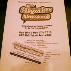 At the songwriter showcase :D (at Cal Poly Pomona: Building 24)