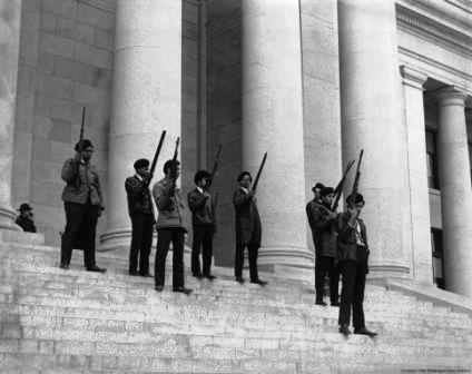 Black Panthers Open Carry at the California State Legislature, 1968