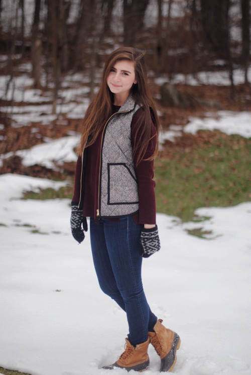 bean boots LLBean preppy prep jcrew winter fashion style mine