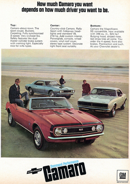 1967 Chevrolet Camaro Advertising Hot Rod Magazine April 1967 by...