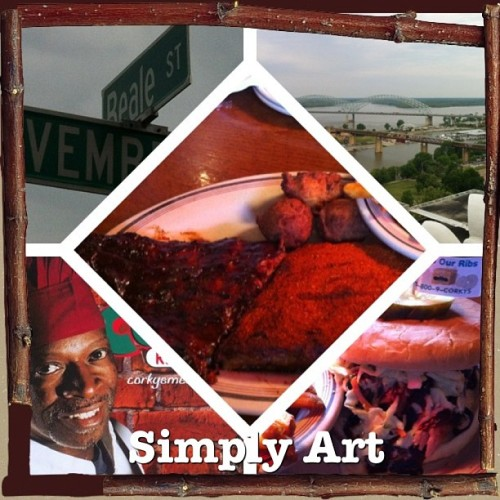Thanks for the hospitality #memphis ❤ see you next time :) #simplyart #goodbyecali #me #roadtrip #corkys #bbq #MississippiRiver