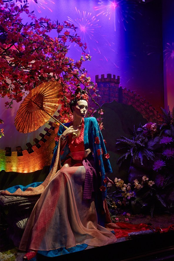Mulan by Missoni / Disney Princesses at Harrods, London 2012.