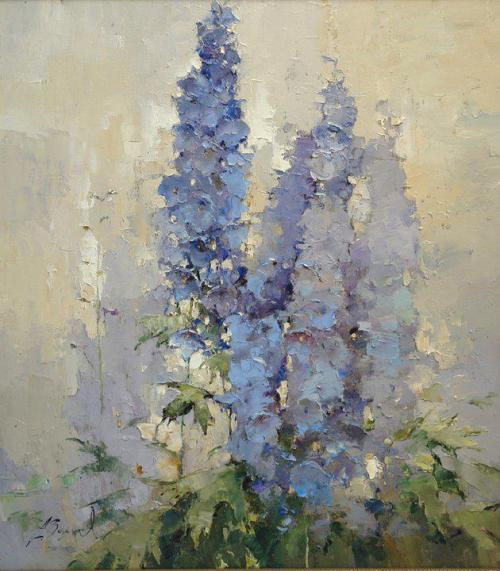 beautifulhereandnow:  seabois:  Alexi Zaitsev - Delphiniums against Sky