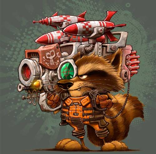 Rocket Raccoon by Dennis Jones