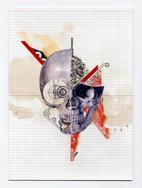 #SKULLFETISH The Demolition by Molokid Handmade collage. Prints, Tshirts, iPhone cases available on www.society6.com/Molokid