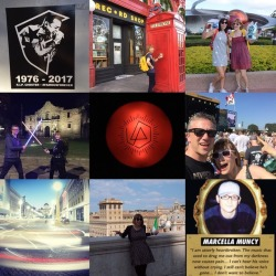 #2017 - what a year… #best9of2017 #yearinreview #yearinreview2017 #chesterbennington @chesterbe ❤️ #fuckdepression #aclfest #hollywoodbowl #epcot #rome #venice #harrypotter #thealamo #starwars #lightsaber
