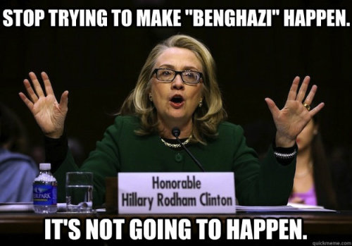 Hillary got heated at Benghazi hearings.