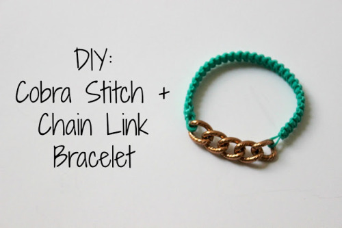 DIY Cobra Stitch Chain Link Bracelet Tutorial from Encourage Fashion here. Really good old school summer camp kids or adult DIY bracelet with excellent instructions.
