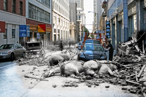 1906 San Francisco Earthquake Composite Photos