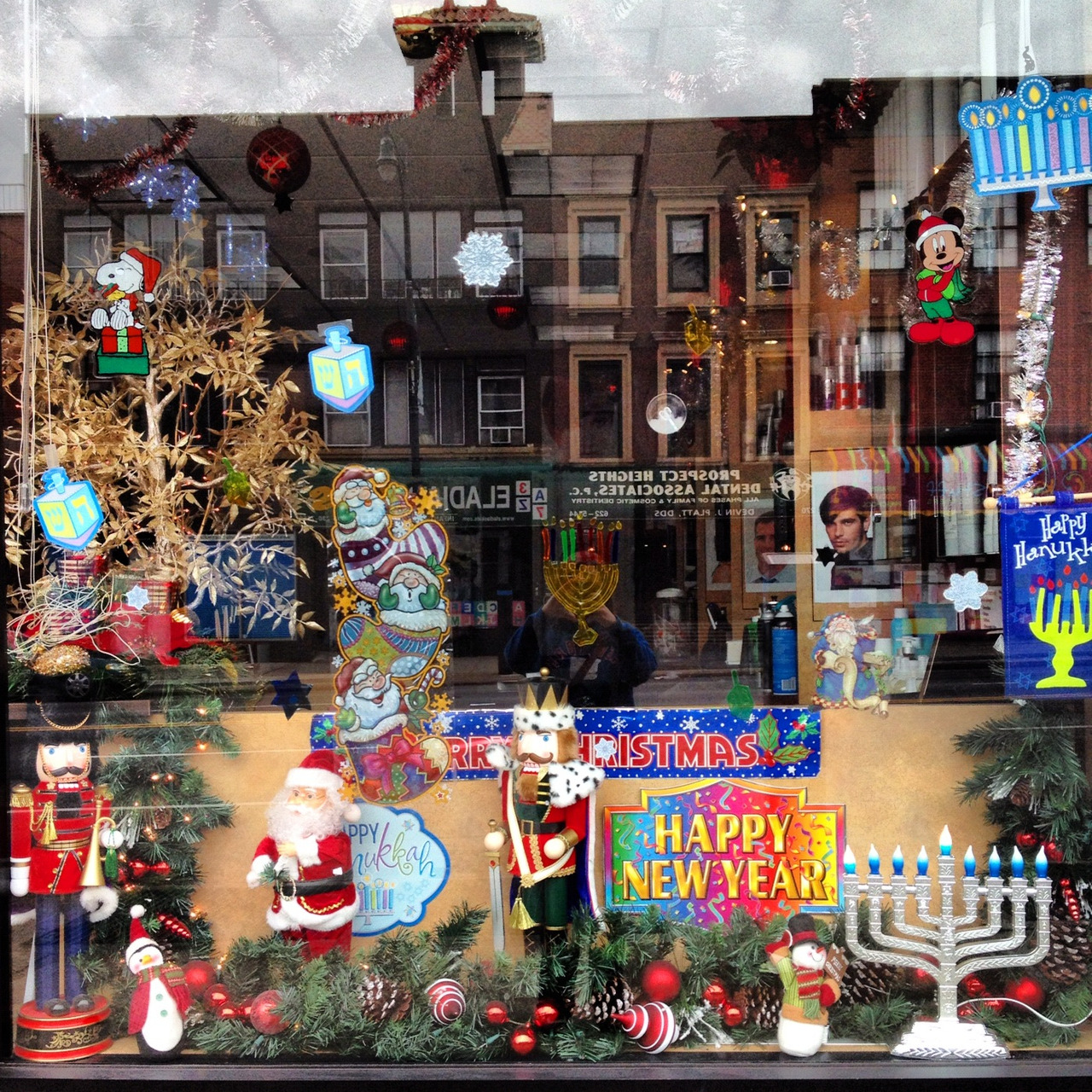 This window on Flatbush sure is the bees knees! Share with us some of your favorite neighborhood holiday windows!