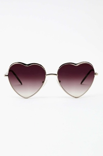 looking at the world through heart-shaped glasses