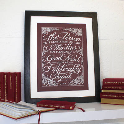 prettybooks:  'Enjoy A Good Book' Jane Austen Poster  So true, I want this framed art!
