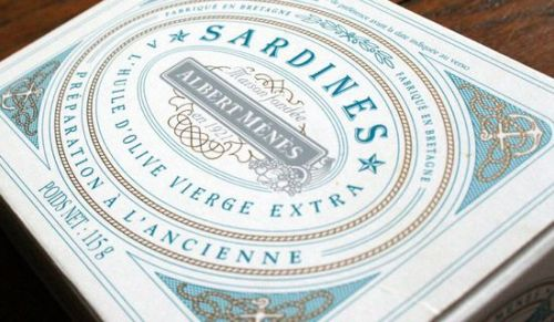 Albert Menes Sardines - The Dieline -