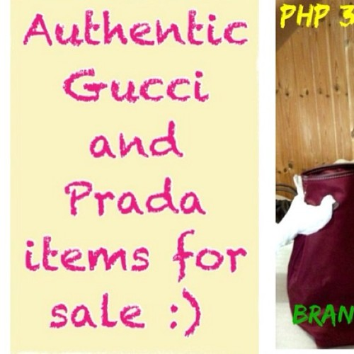 Please follow my sister @gi_babe..😊 She's selling authentic bags from Rome!👍😉 #gucci #prada #sale #forsale #bags
