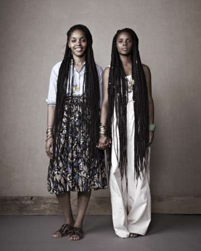 The Okpo sisters. Entrepreneurs. Owners of the William Okpo fashion label. #GirlPower