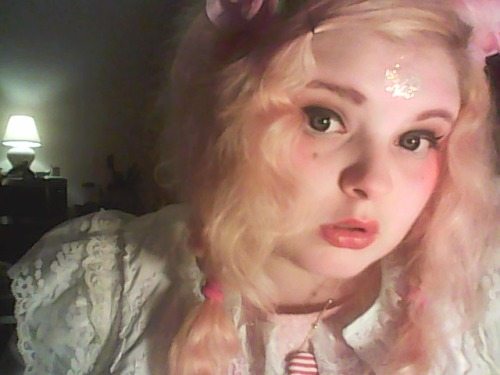 Shot a makeup tutorial tonight and am wearing fairy kei/cult party kei. idek. I am princess of the moon.