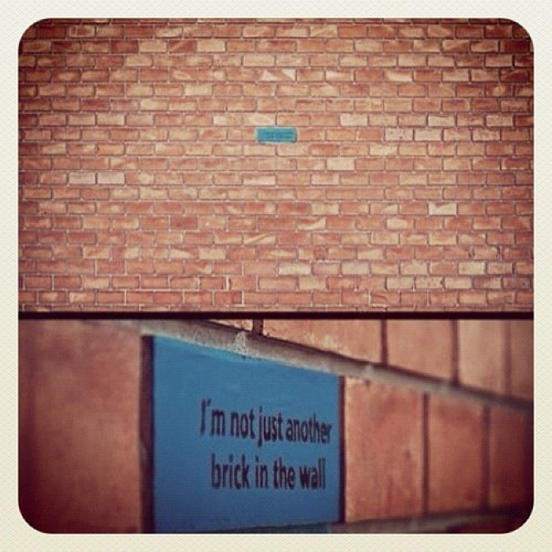 I'm not just another brick in the wall.