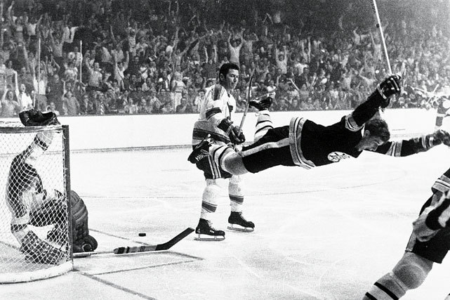 The great Bobby Orr turns 65 today. This iconic photo of Orr captures him in mid-flight moments after scoring the overtime goal against St. Louis in Game 4 of the 1970 Stanley Cup Final that gave the Bruins their first championship in 29 years. Orr was the first defenseman to ever be awarded the Conn Smythe Trophy as Playoff MVP. He scored 20 points in 14 games. (AP)GALLERY: Classic Photos of Bobby Orr