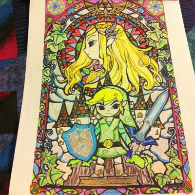 omfhope:  I can't stop coloring! #link #zelda #nintendo #coloring  Why would you? That's a badass coloring.