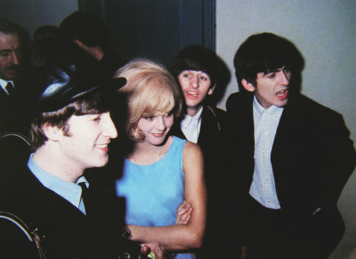 maureensadoll:  1964, with french chanteuse Sylvie Vartan in Paris