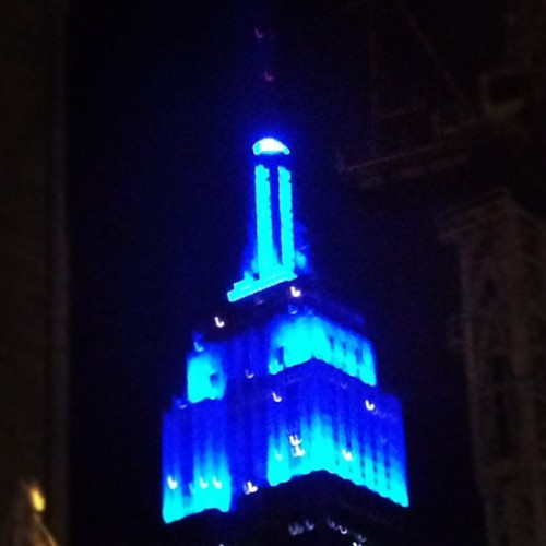 Lit blue for awareness!