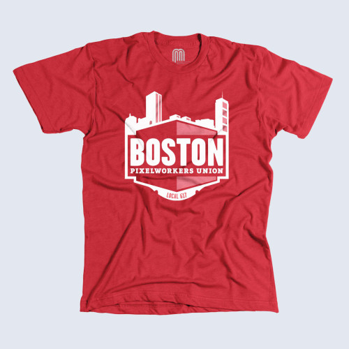 Boston Printed on American Apparel, designed by Mat Marquis, and available for $24.