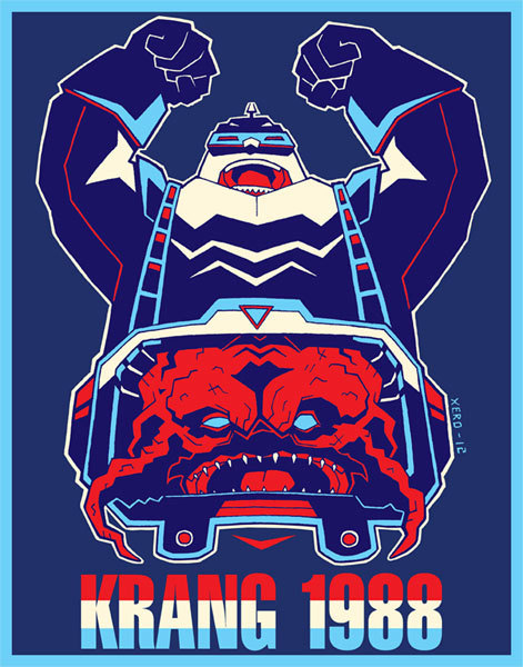 Krang 1988 by XERO / Tumblr / Store