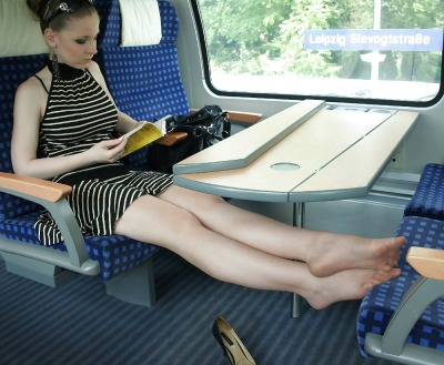 denier10:  relaxing on the way to work.