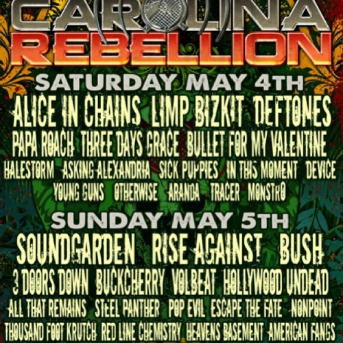 riseagainst:  See you tomorrow North Carolina #carolinarebellion http://bit.ly/1232Ox4