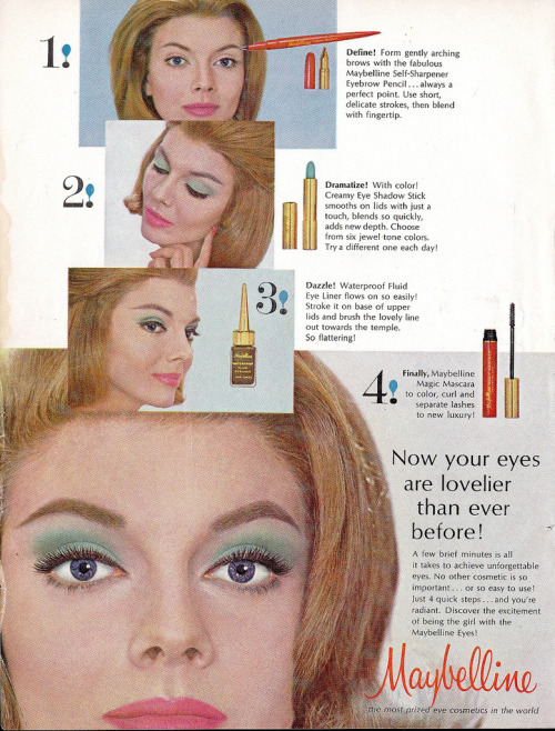 maybelline eye makeup ad (by CapricornOneVintage)
