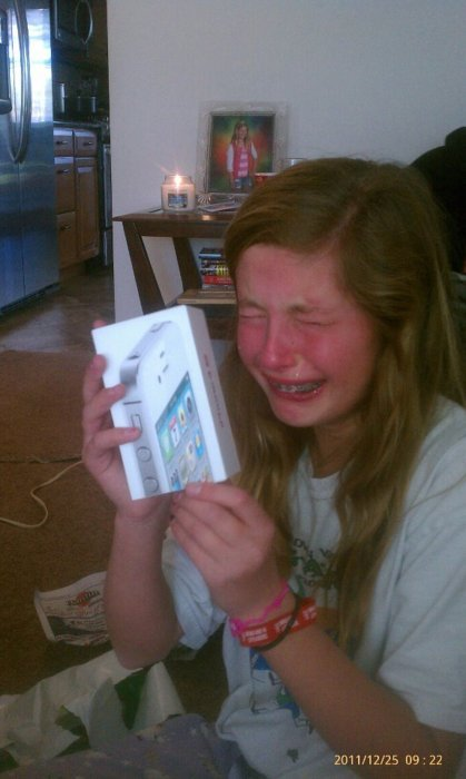 A WHITE IPHONE FOR CHRISTMAS? FML