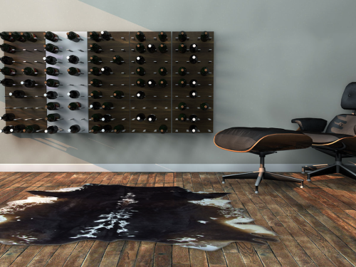 STACT Wine Wall ($130 per unit)… want http://www.getstact.com/pages/wine-rack-lookbook
