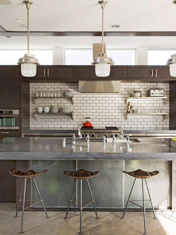 justthedesign:  Modern Industrial Kitchen Designed by Randy Weinstein Design