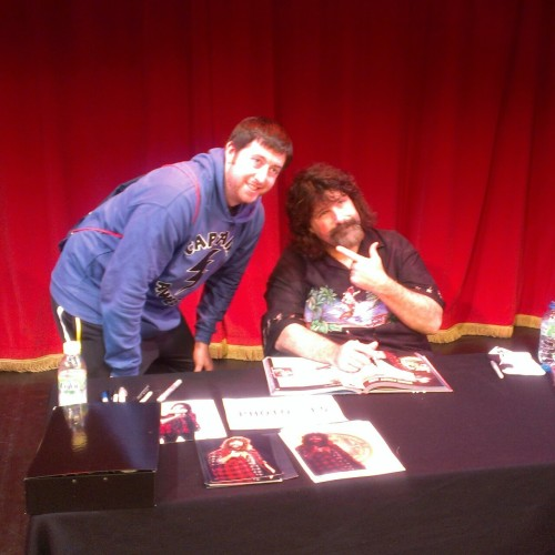 Meeting wwe hardcore legend Mick Foley in Manchester