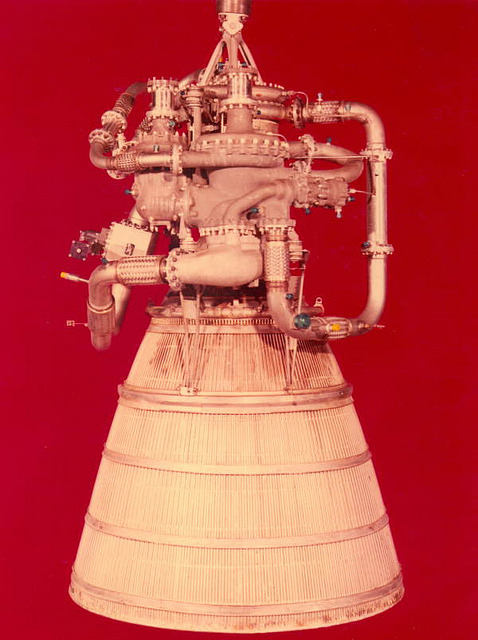 paperwadperfect:  XLR-115 hydrogen fueled rocket engine developed by Pratt and Whitney Aircraft by State Library and Archives of Florida on Flickr.