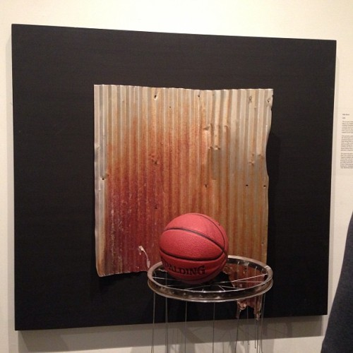 "Dale Davis ""Midnight Basketball Corner Shot"" #sculpturerelief #sculpture #art #losangeles #dtla #basketball (at Untitled Art Projects)"