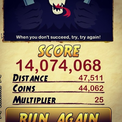 Highest score! :p  #templerun2