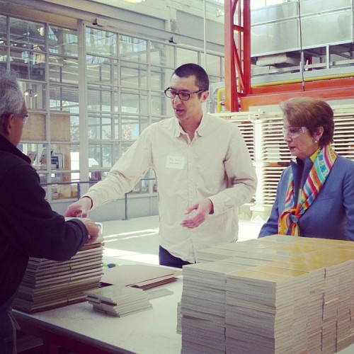 Thx #congresswoman #nancypelosi for coming to tour our new SF tile factory (at Heath Ceramics)