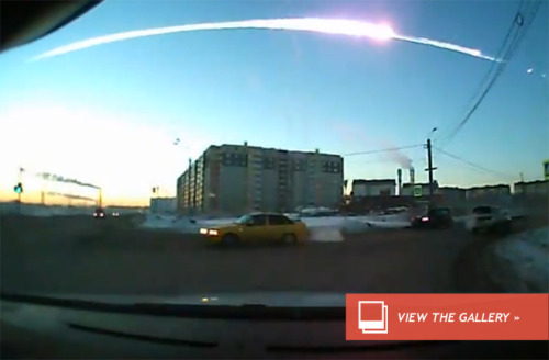 Russian Meteor: What's With All The Dash Cams? If, like me, you were sitting dumbstruck watching Youtube videos depicting a raging ball of fire falling out of the sky in the early hours this morning, you may have been equally dumbstruck by the sheer number of eyewitness videos. There are videos of the object exploding into a bright orb, there's dramatic footage of the moment when the shock wave blew out windows, but above all, there's a crazy number of videos shot from the dashboards of cars. What's that about? Read more