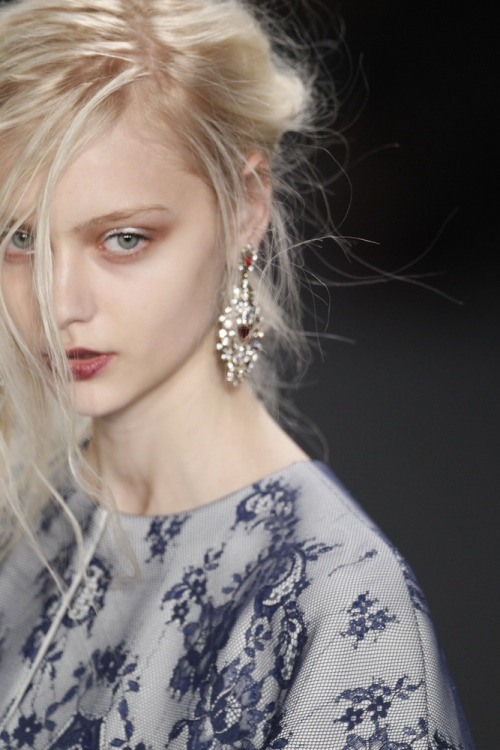 wgsn:  An aura of ethereal gothic glamour at @TadashiShoji #NewYork #Fashion #Runway