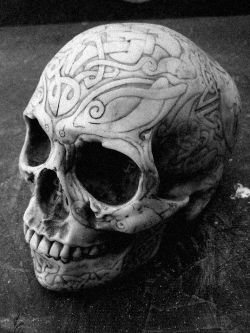 When I die, can someone do some crazy design on my skull and keep it in their room?