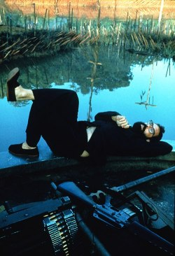Francis Ford Coppola on the set of APOCALYPSE NOW