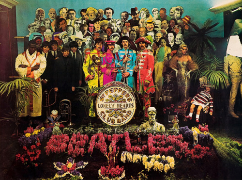 Sgt. Pepper's Lonely Hearts Club Band   30 March 1967, the Sgt. Pepper's Lonely Hearts Club Band photo sessions took place at 4 Chelsea Manor Studios, 1-11 Flood Street, just off King's Road in Chelsea with designer Peter Blake and photographer Michael Cooper. (x)