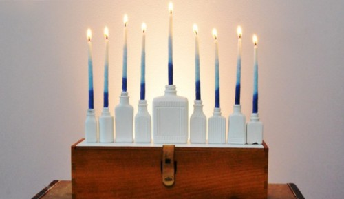 DIY HANUKKAH MENORAHby Mr. Kate http://bit.ly/RoYoik